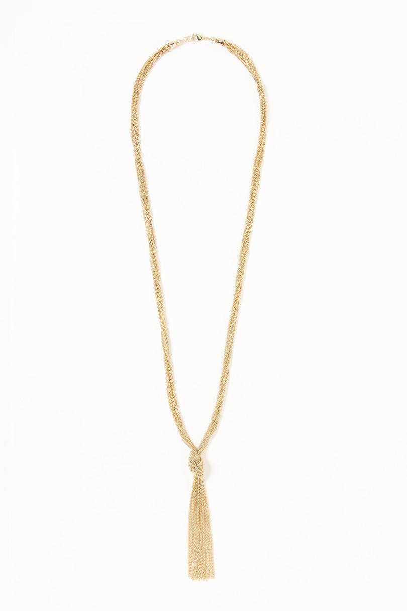 Gold Tassel Nacklace