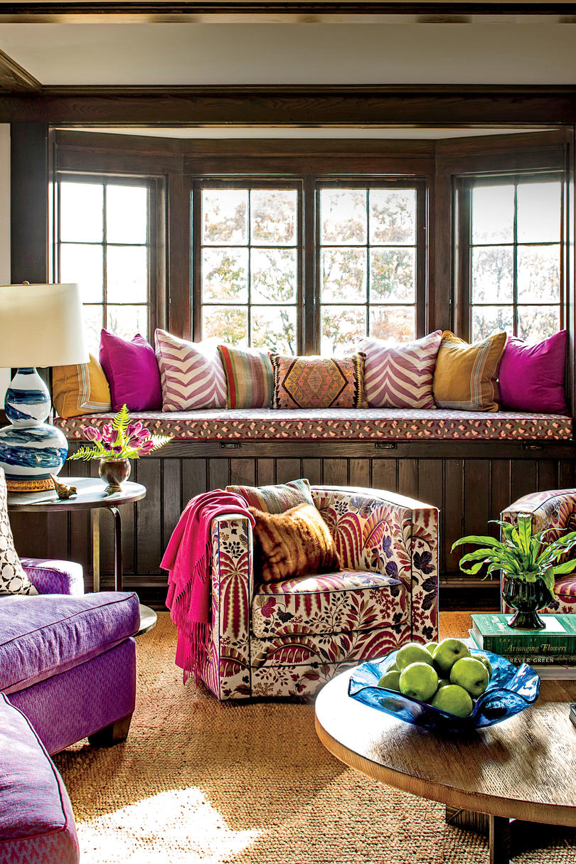 13 achievable ideas inspired by a 1926 tudor southern living the living room let patterns speak