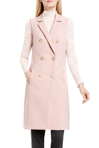Vince Camuto Double Breasted Long Vest