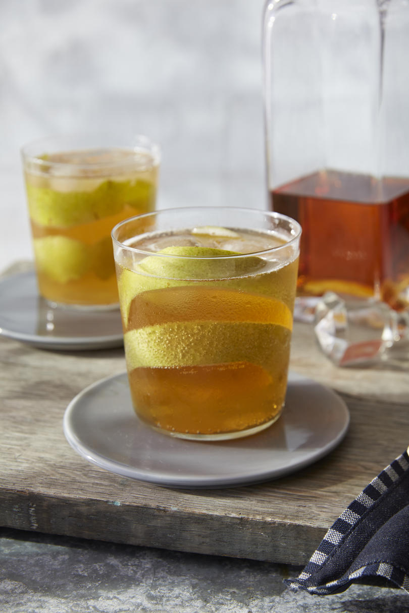 Bourbon and Hard Pear Cider Cocktail