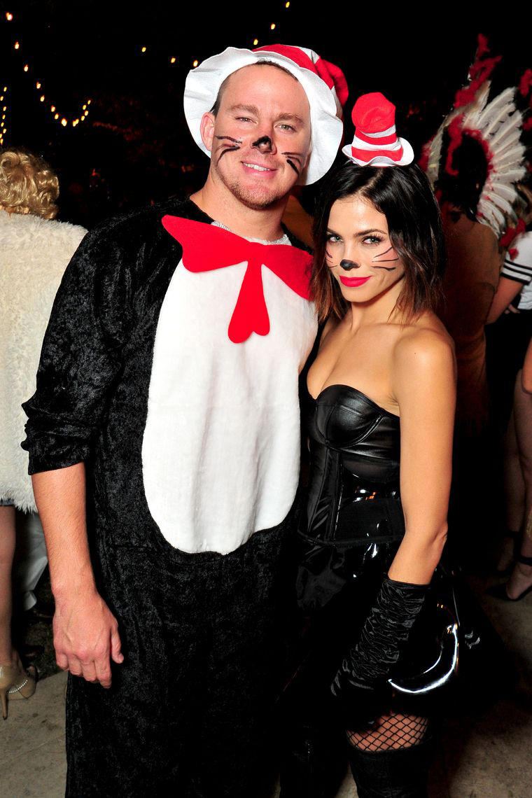 Channing Tatum and Jenna Dewan-Tatum Cats Halloween Costumes