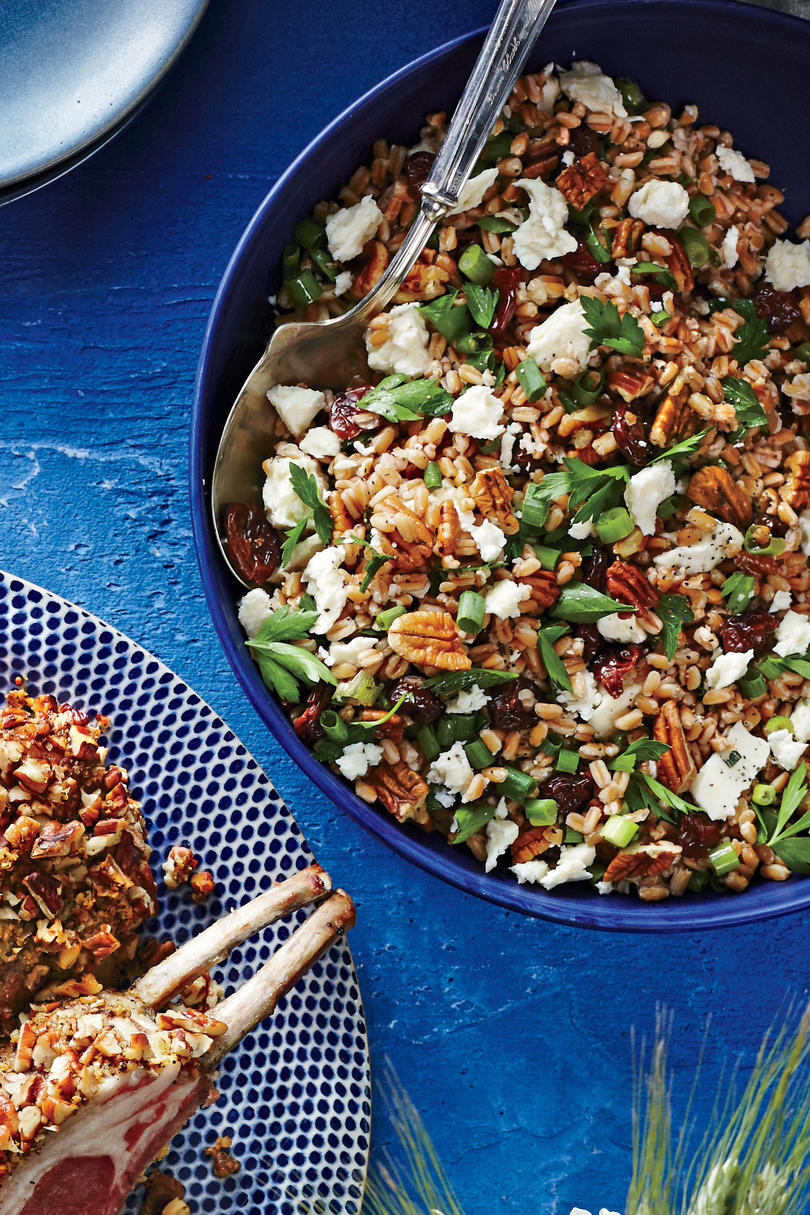 Farro Salad with Toasted Pecans, Feta, and Dried Cherries Virginia Willis