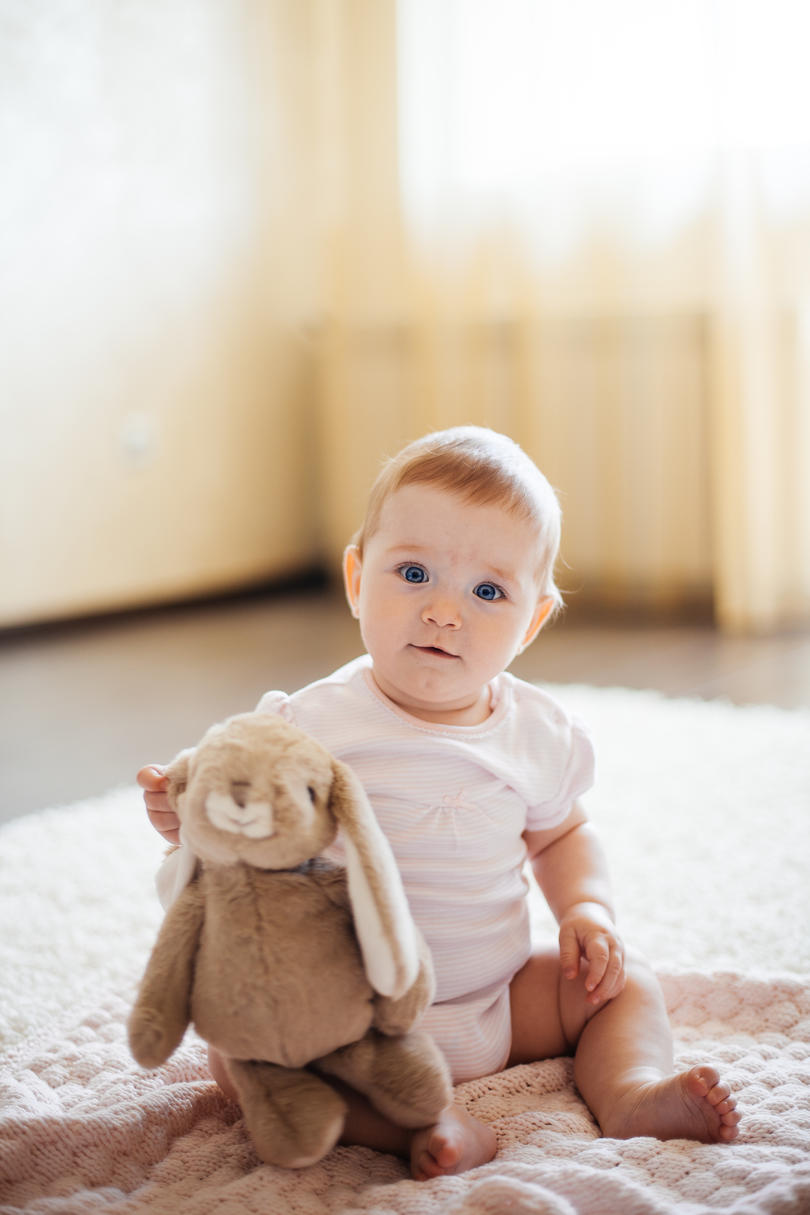Baby with stuffed animal neutral names