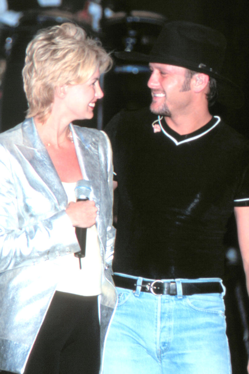 Tim and Faith at the George Strait Music Festival