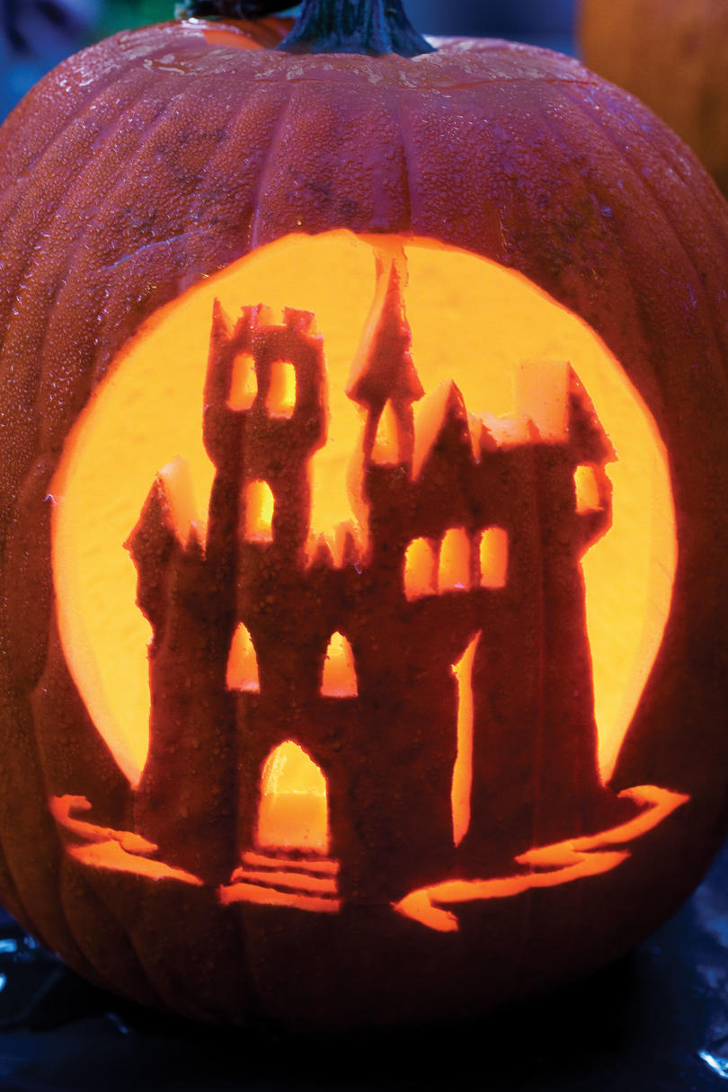 haunted castle halloween pumpkins - Carving Pumpkin Ideas