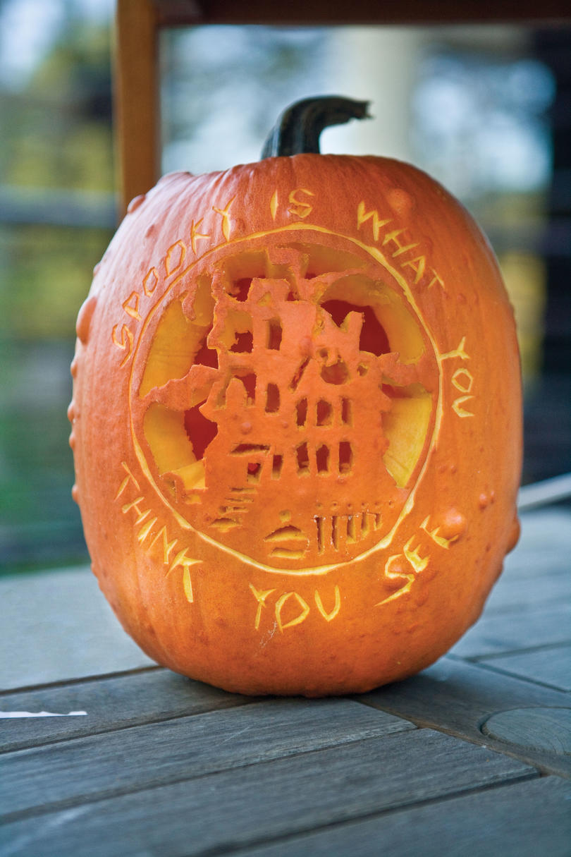 Pumpkin Carving Ideas: Message Pumpkin
