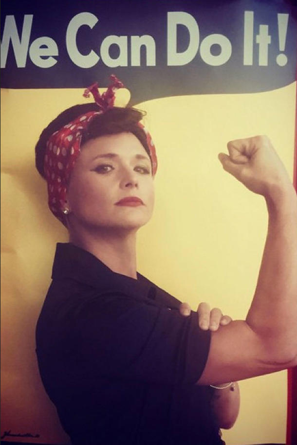 Miranda Lamber Rosie the Riveter Halloween Costume