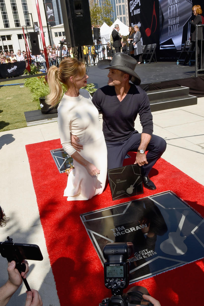 When They Both Received Stars On The Music City Walk Of Fame
