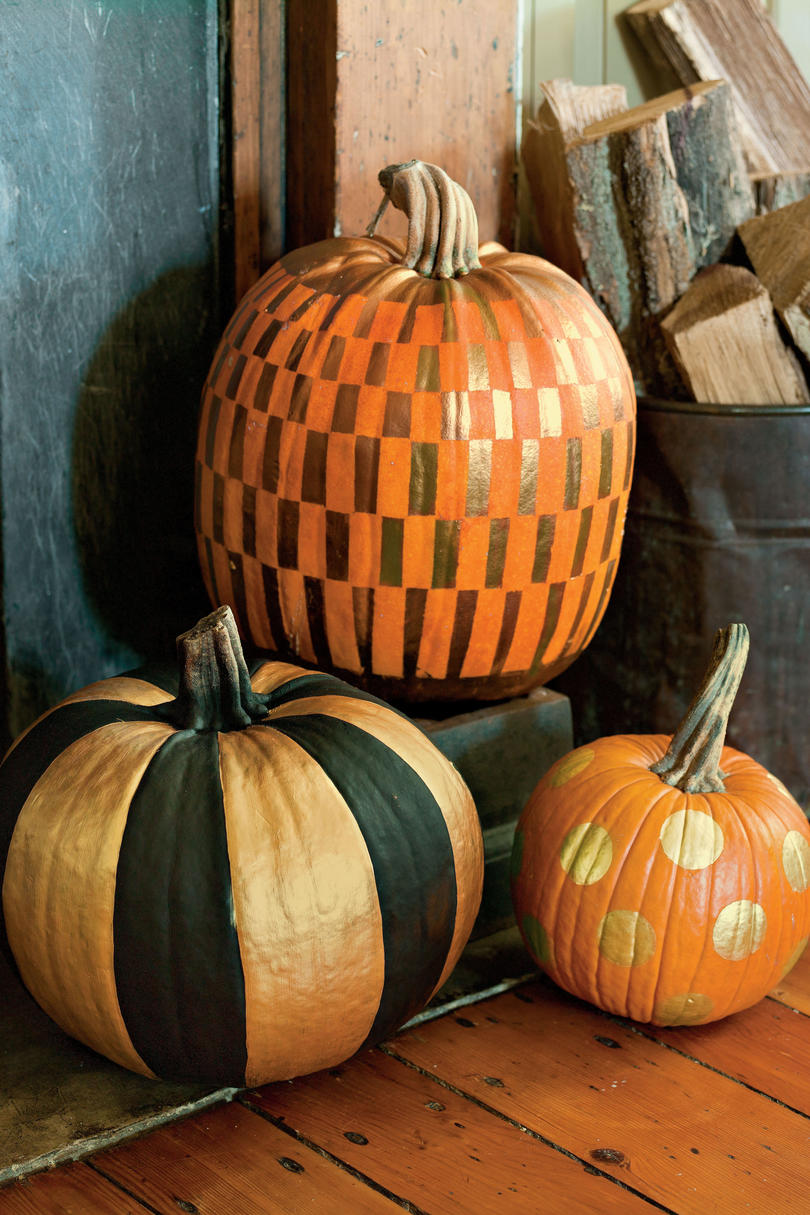 No carve pumpkin decorating ideas southern living