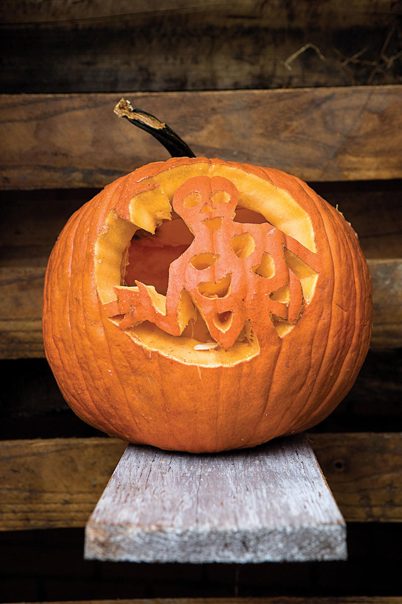 Skeleton Pumpkin
