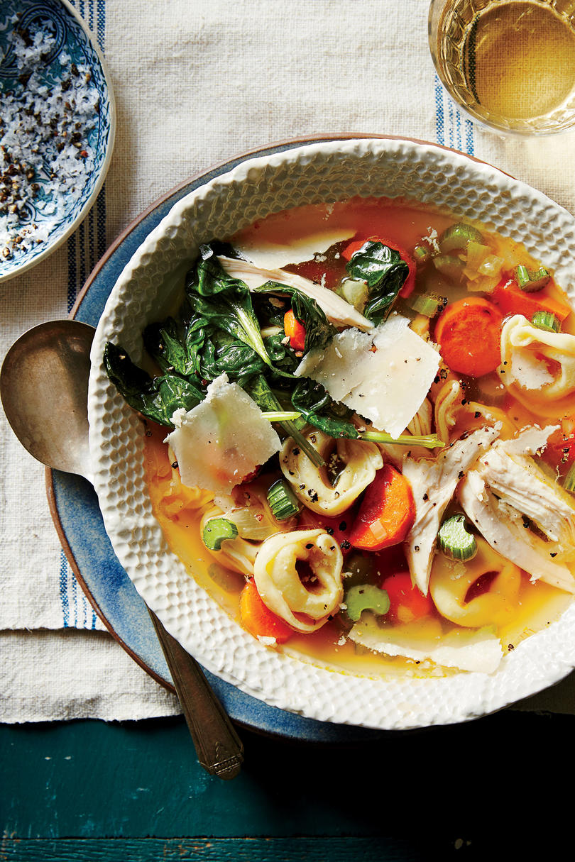 Turkey Tortellini Soup with Greens