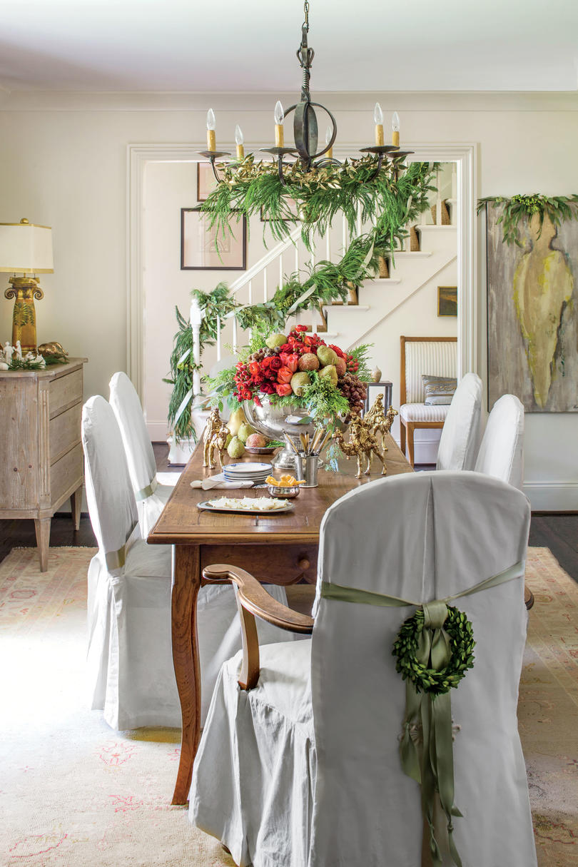 Garland Wrapped Chandelier