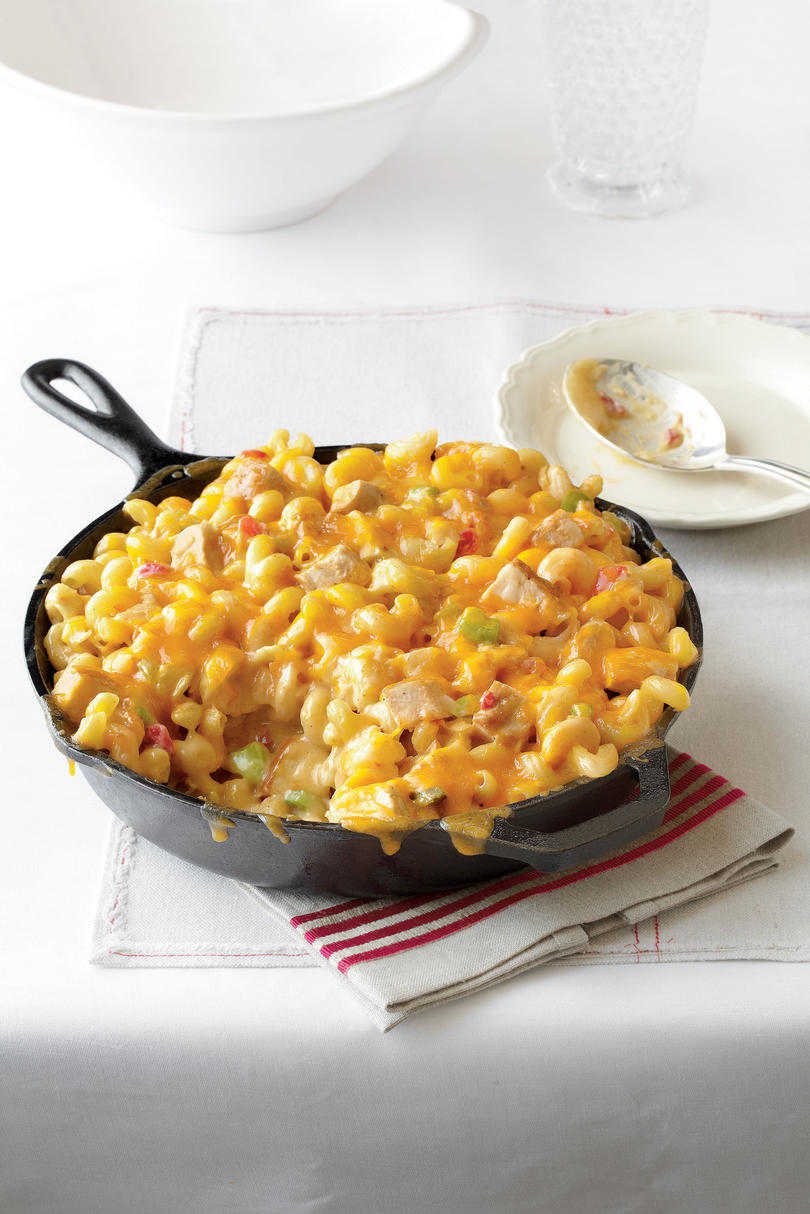 Thanksgiving Skillet Dishes King Ranch Mac and Cheese