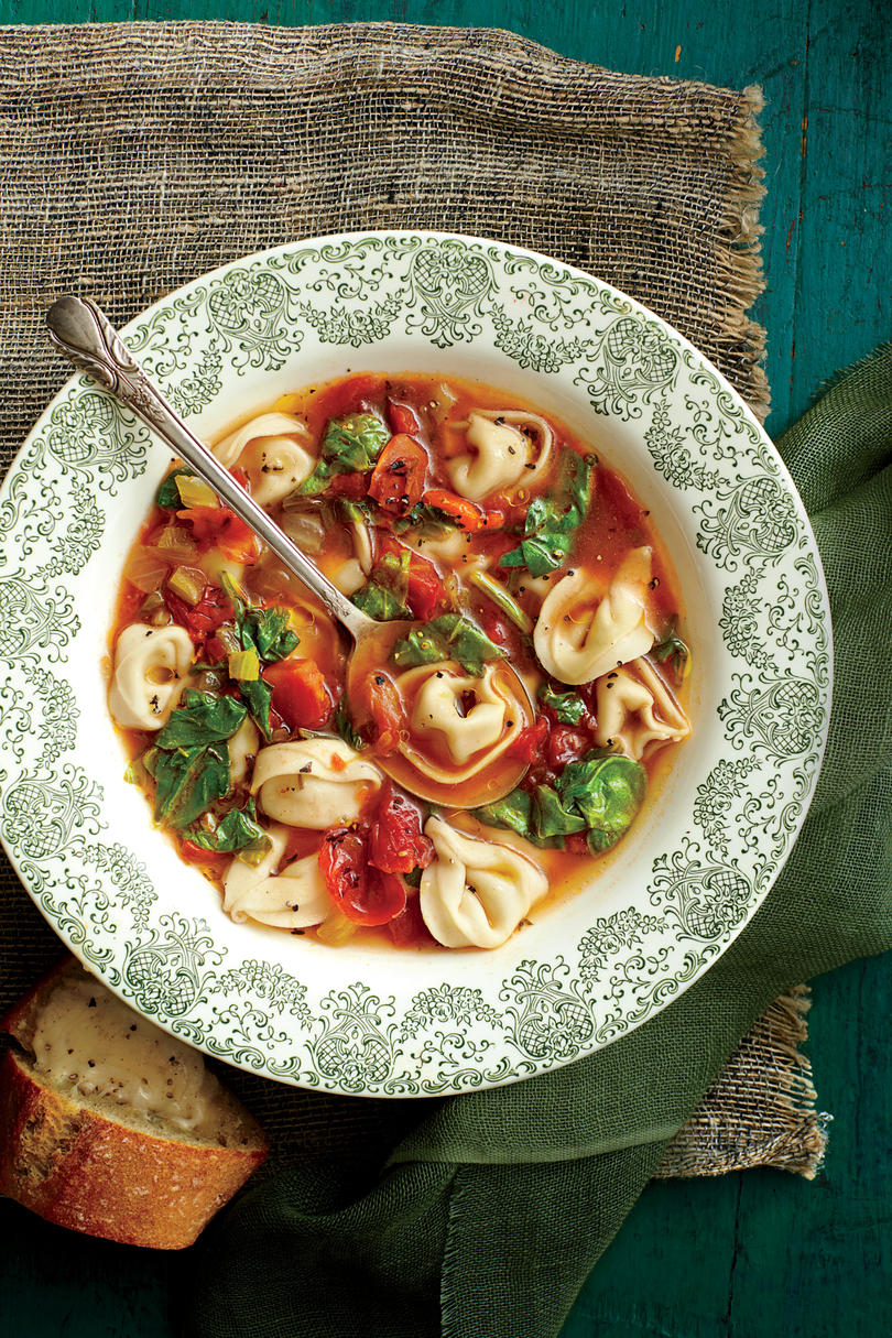 Chicken Soups Chicken-and-Prosciutto Tortellini Soup
