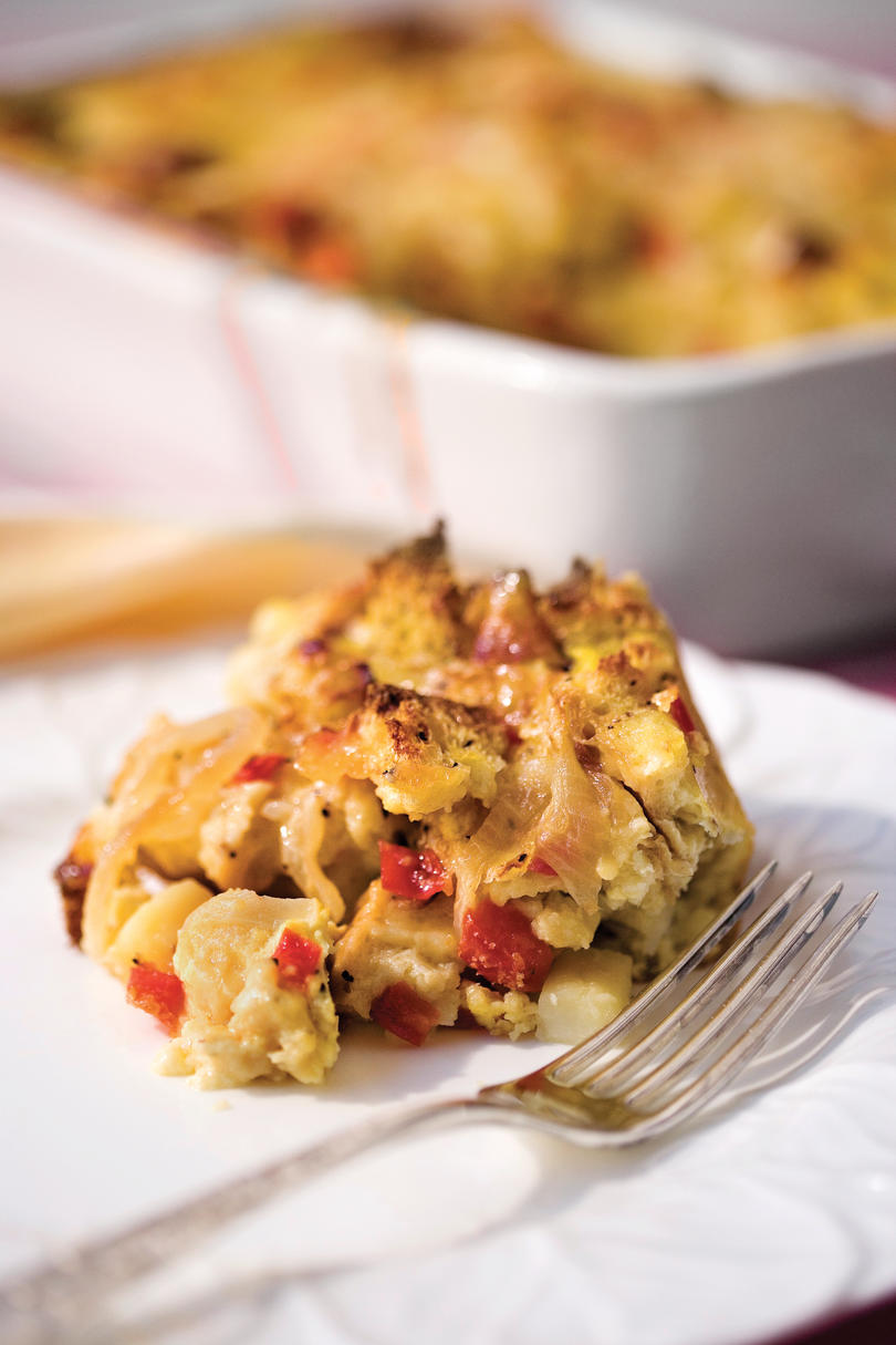 Brunch for a Crowd Brie-and-Vegetable Breakfast Strata