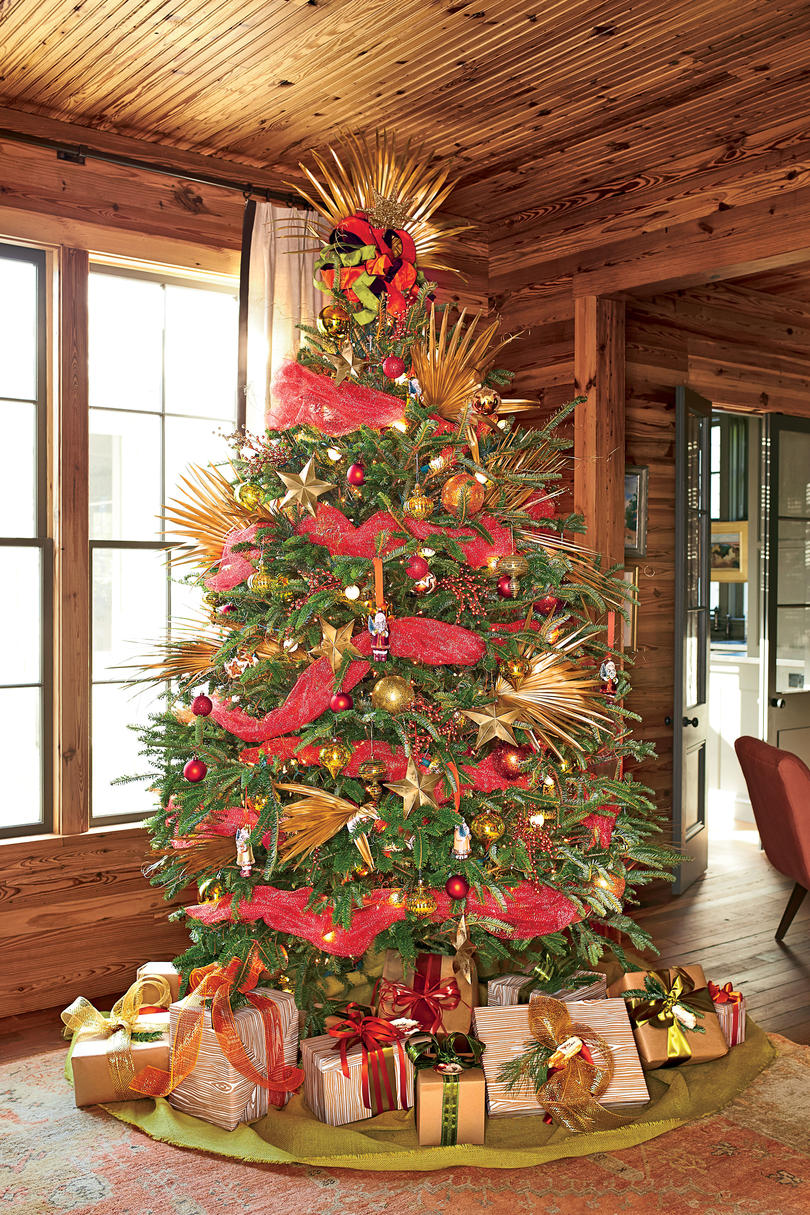 Red and Gold Spiked Tree