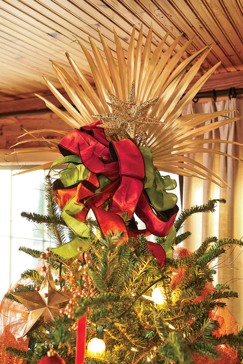 Palm Fronds Tree Topper