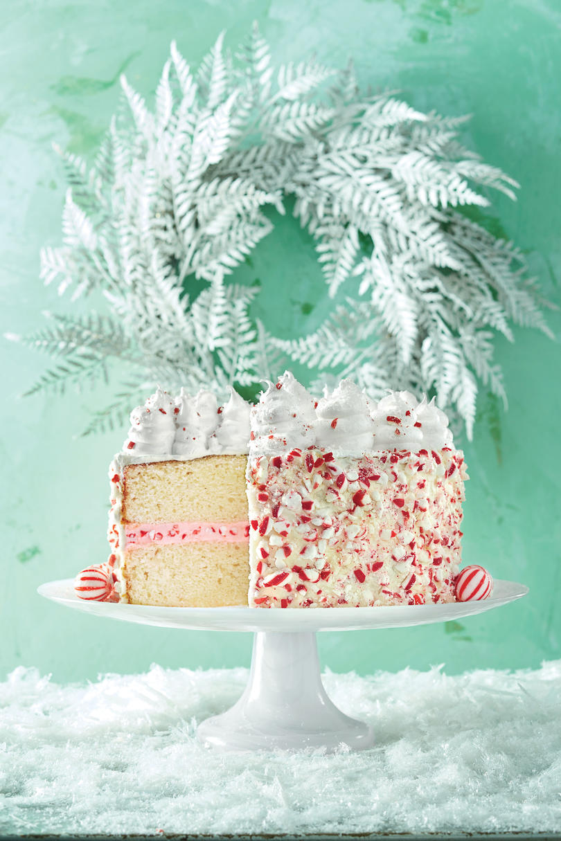 Peppermint Cake with Seven-Minute Frosting