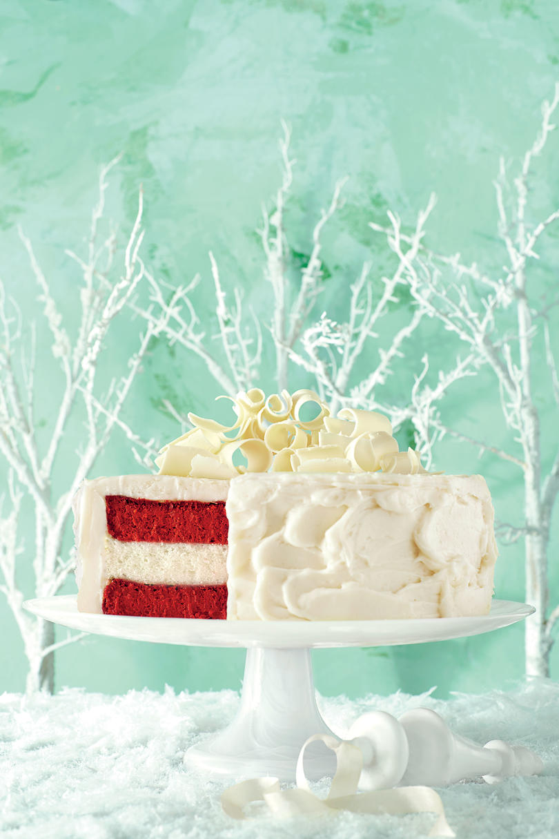 Red Velvet Cheesecake-Vanilla Cake with Cream Cheese Frosting
