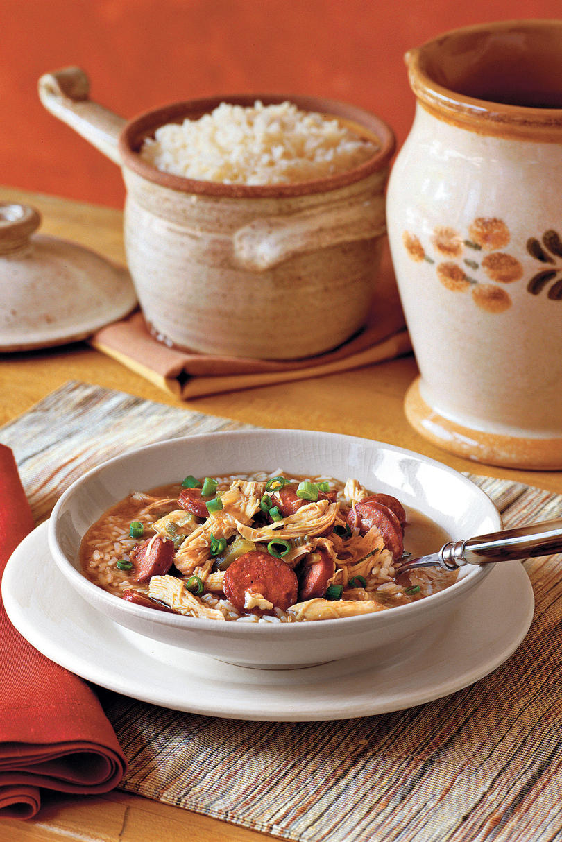 Chicken Soups Chicken-and-Sausage Gumbo