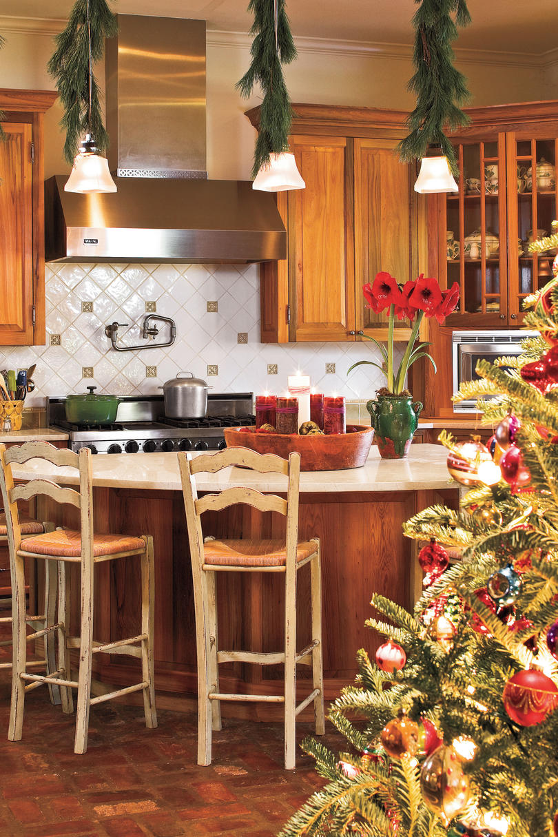 Our Favorite Christmas Kitchens - Southern Living on christmas gingerbread cookies ideas, christmas gingerbread man ideas, gingerbread christmas decorations ideas, gingerbread kitchen decor, gingerbread boy cutting board,