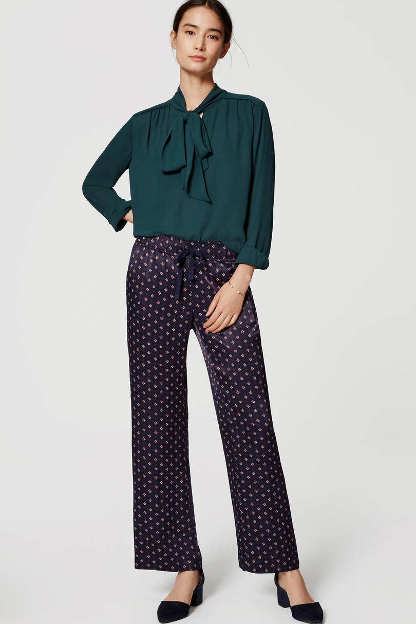 Thanksgiving Pants Geo Fluid Wide-Leg Pant