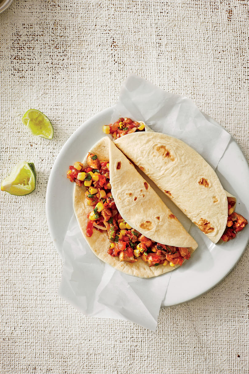 Pork Tenderloin Wraps with Grilled Corn Salsa