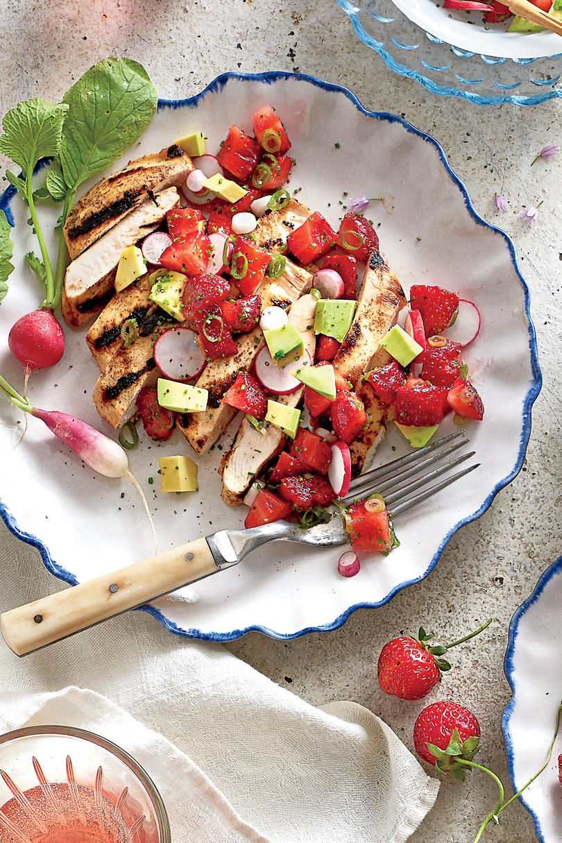 Grilled Chicken Cutlets with Strawberry Salsa