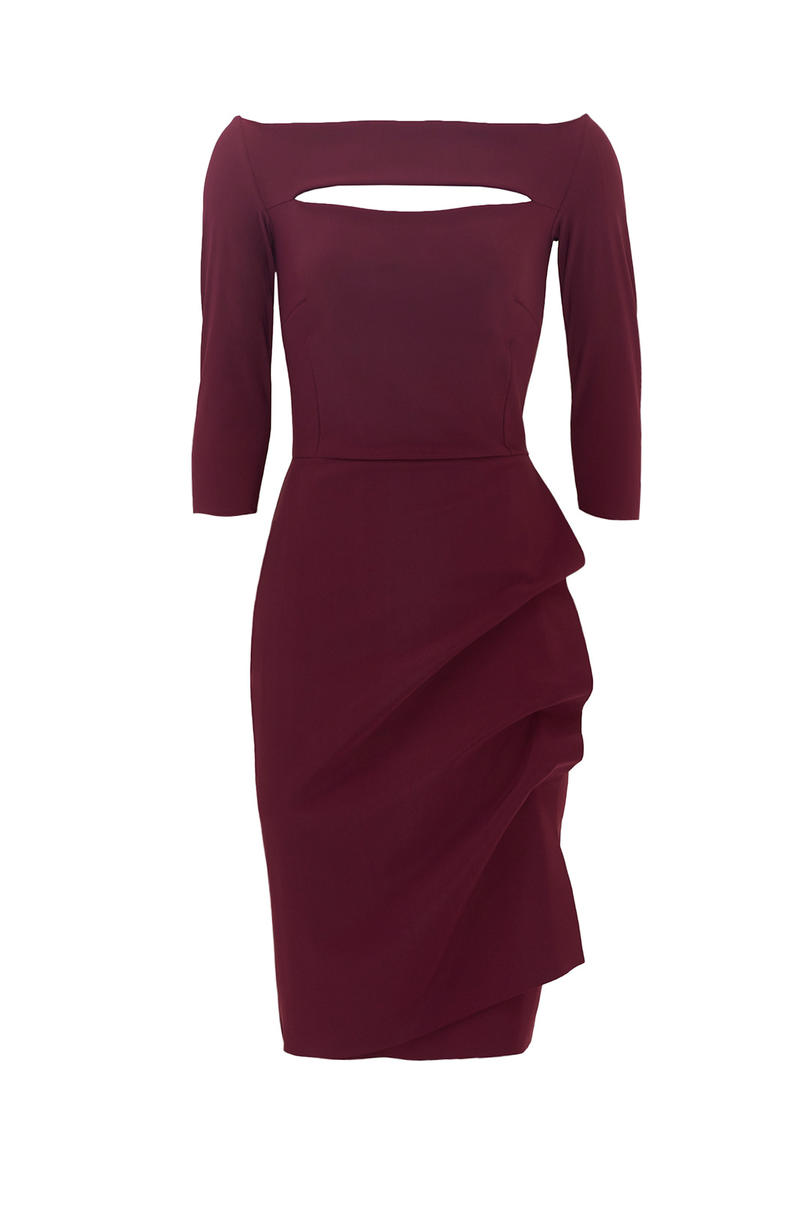 La Petite Robe Chiara Boni Burgundy Kate Sheath