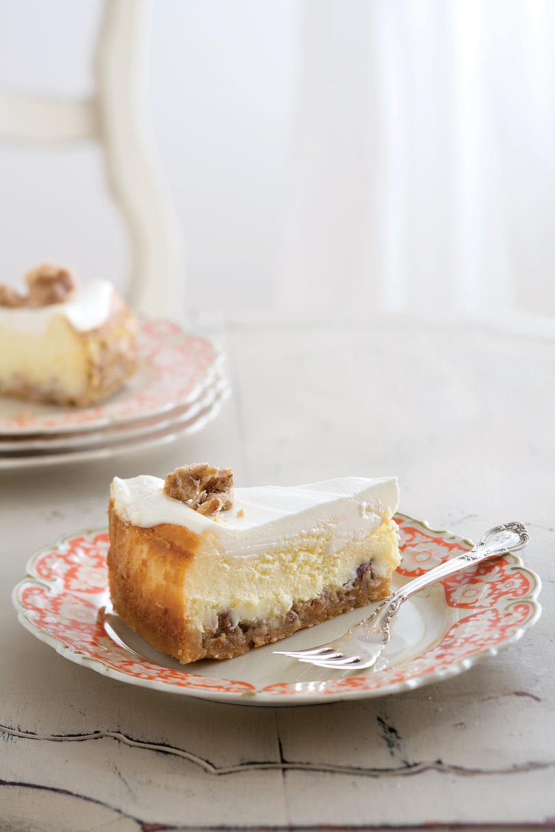 Praline-Crusted Cheesecake