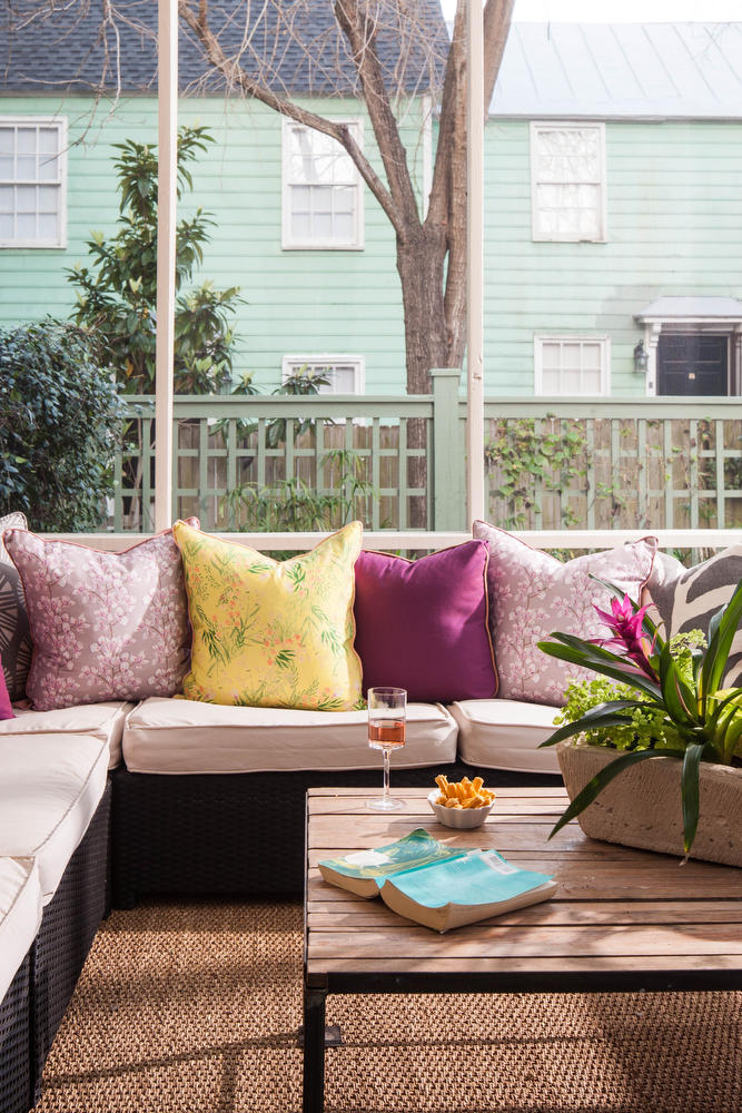 Purple Sectional Seating