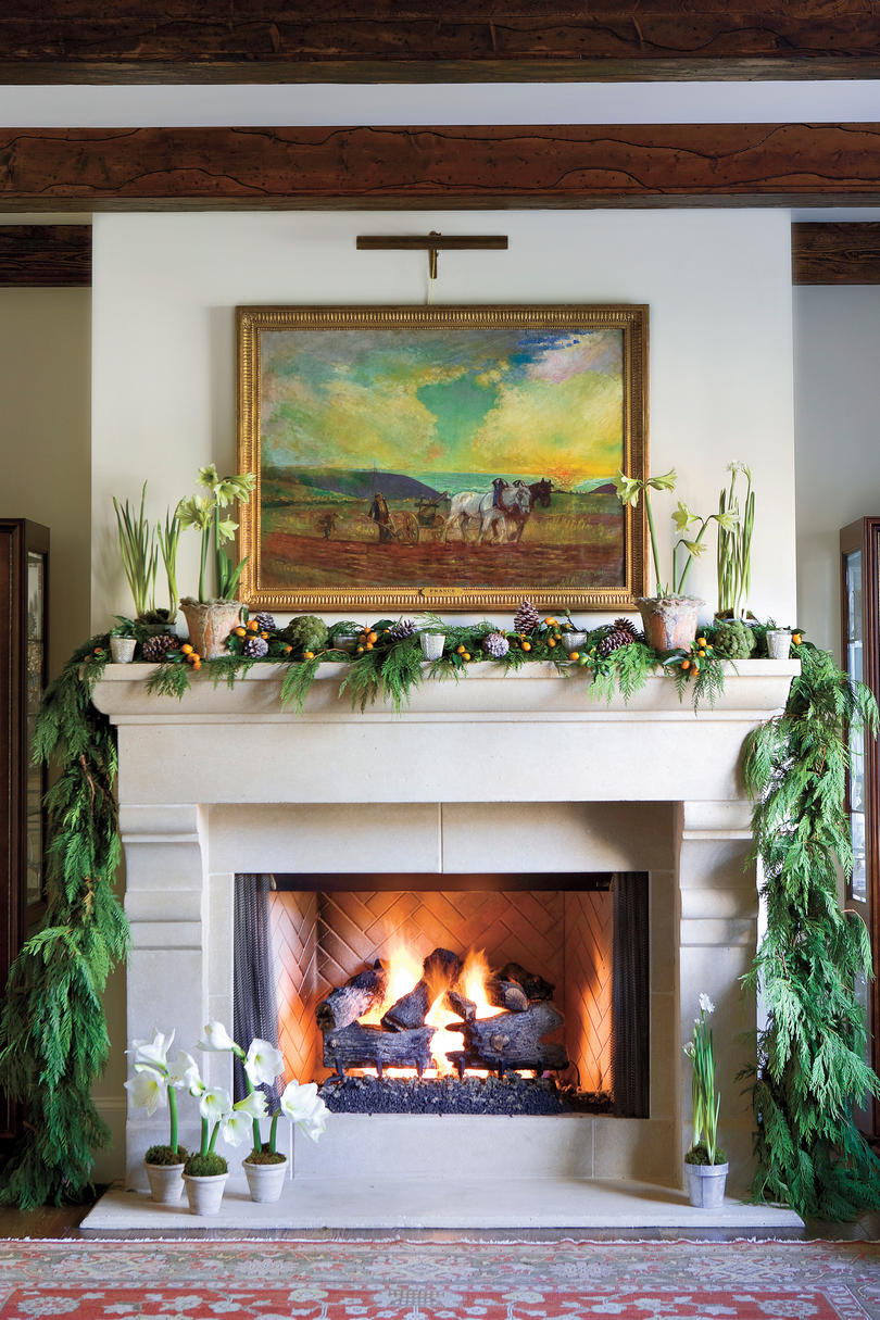 Design Christmas Mantel christmas mantel decorating ideas southern living sophisticated natural