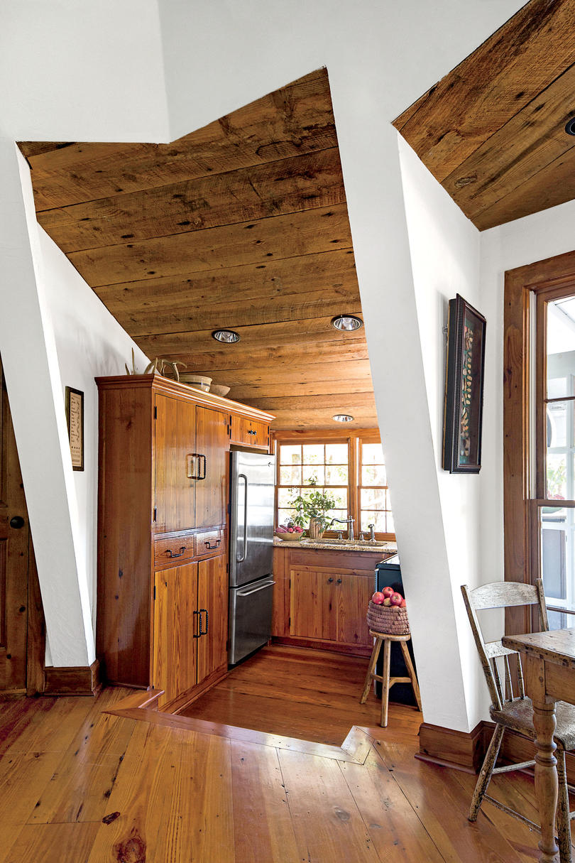Tiny Tucked Away Lake House Kitchen