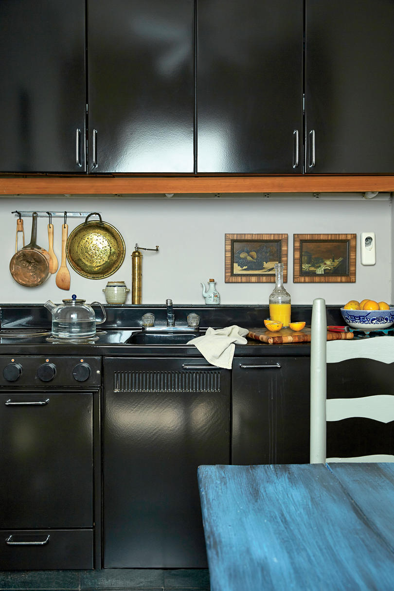 Dark Metal Kitchen Cabinets