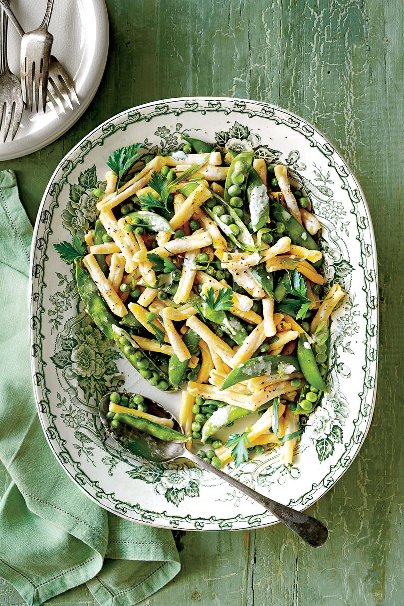 Spring Pea Pasta with Ricotta and Herbs