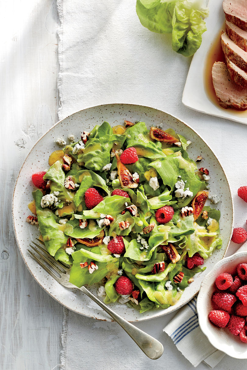 Raspberry and Fig Salad with Lemon-Thyme Dressing