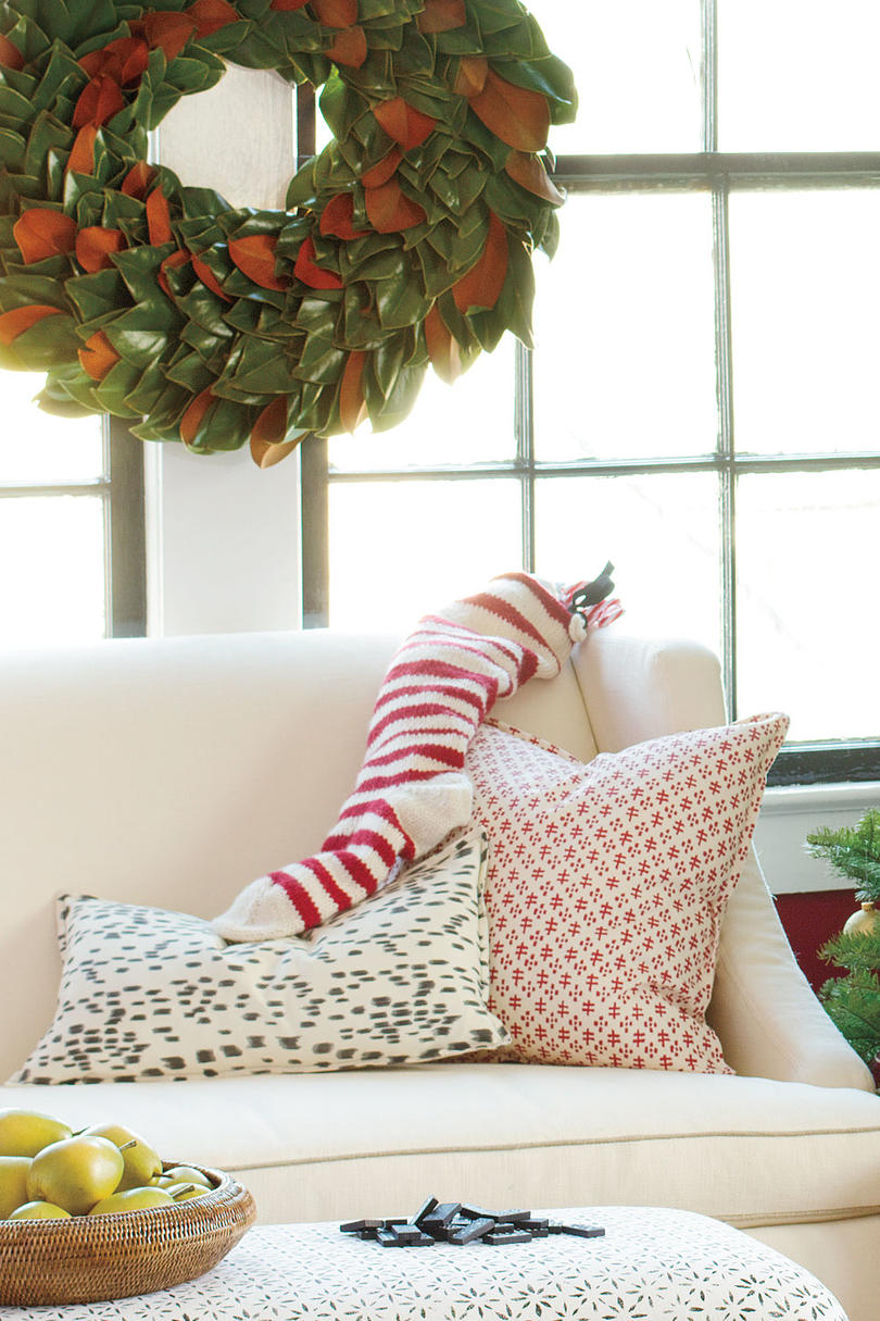 Striped Knit Stocking