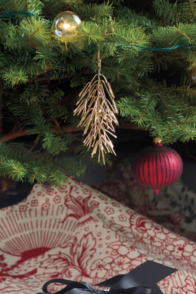 Golden Pinecone Christmas Ornaments