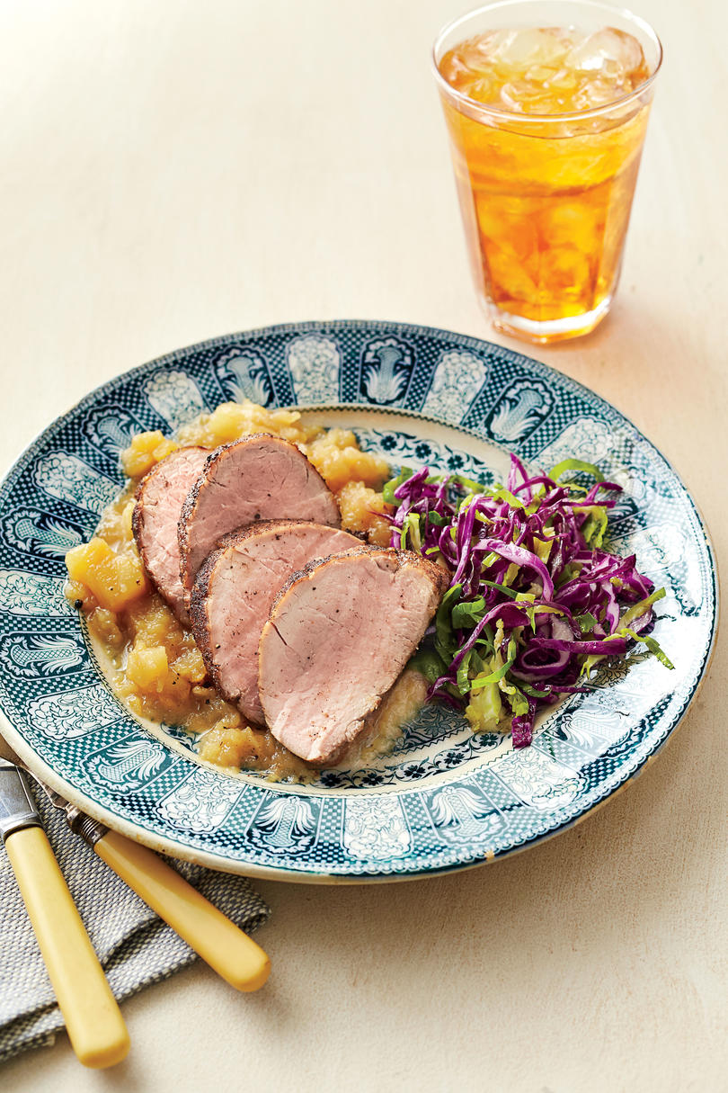 Honey-Glazed Pork Tenderloin with Homemade Applesauce