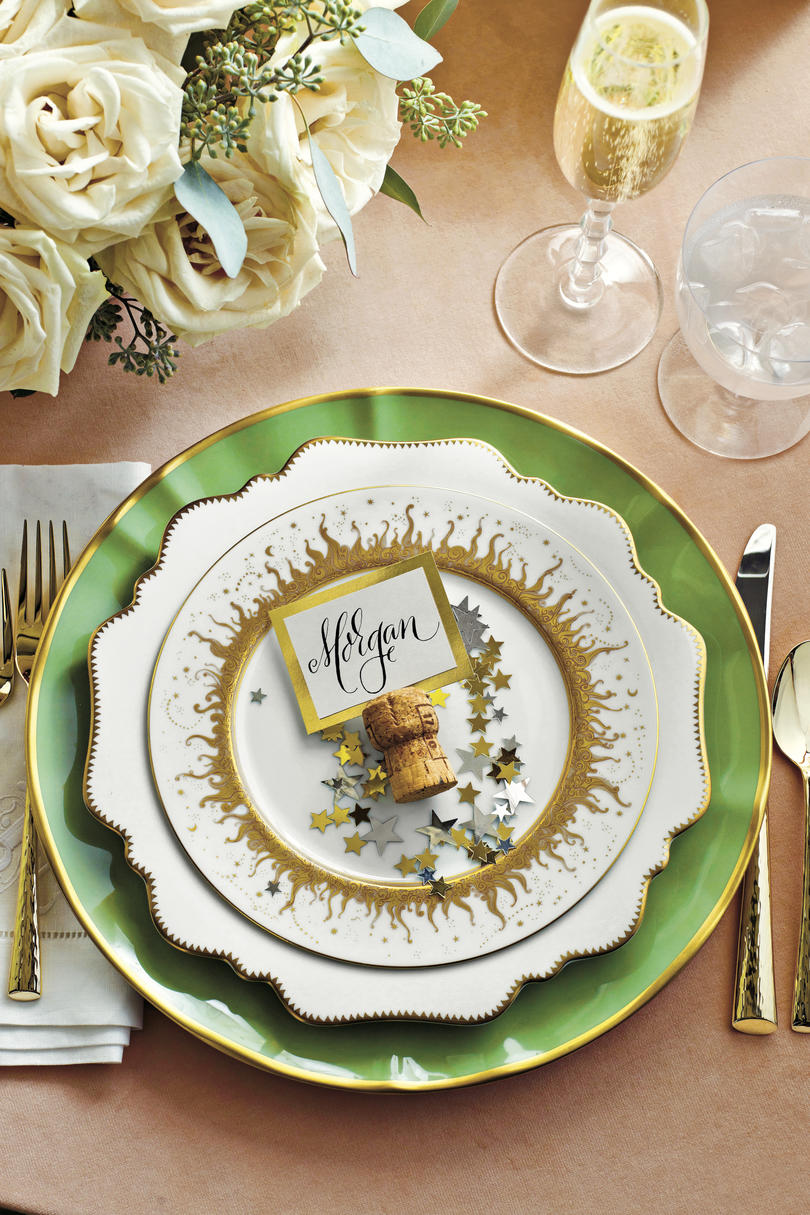 Christmas Table Setting Starry Celebration