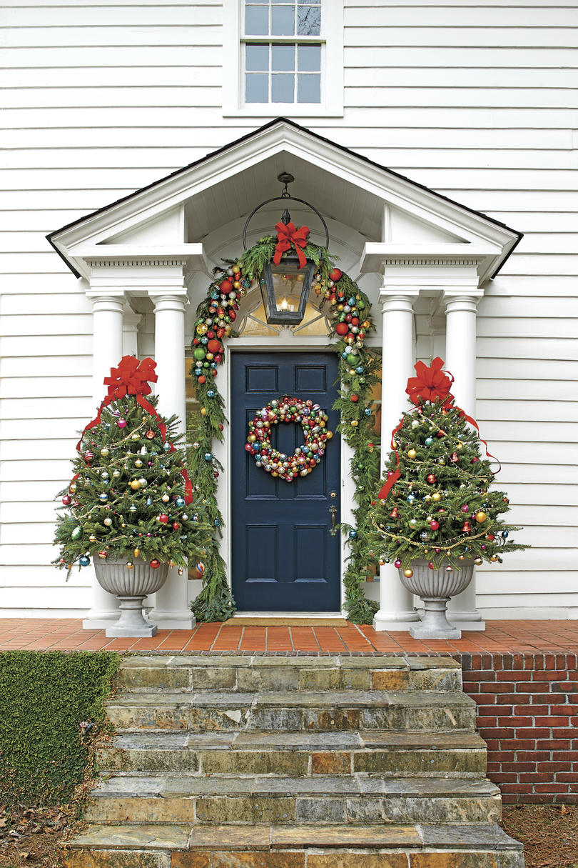 Christmas Exteriors Outfitted with Ornaments
