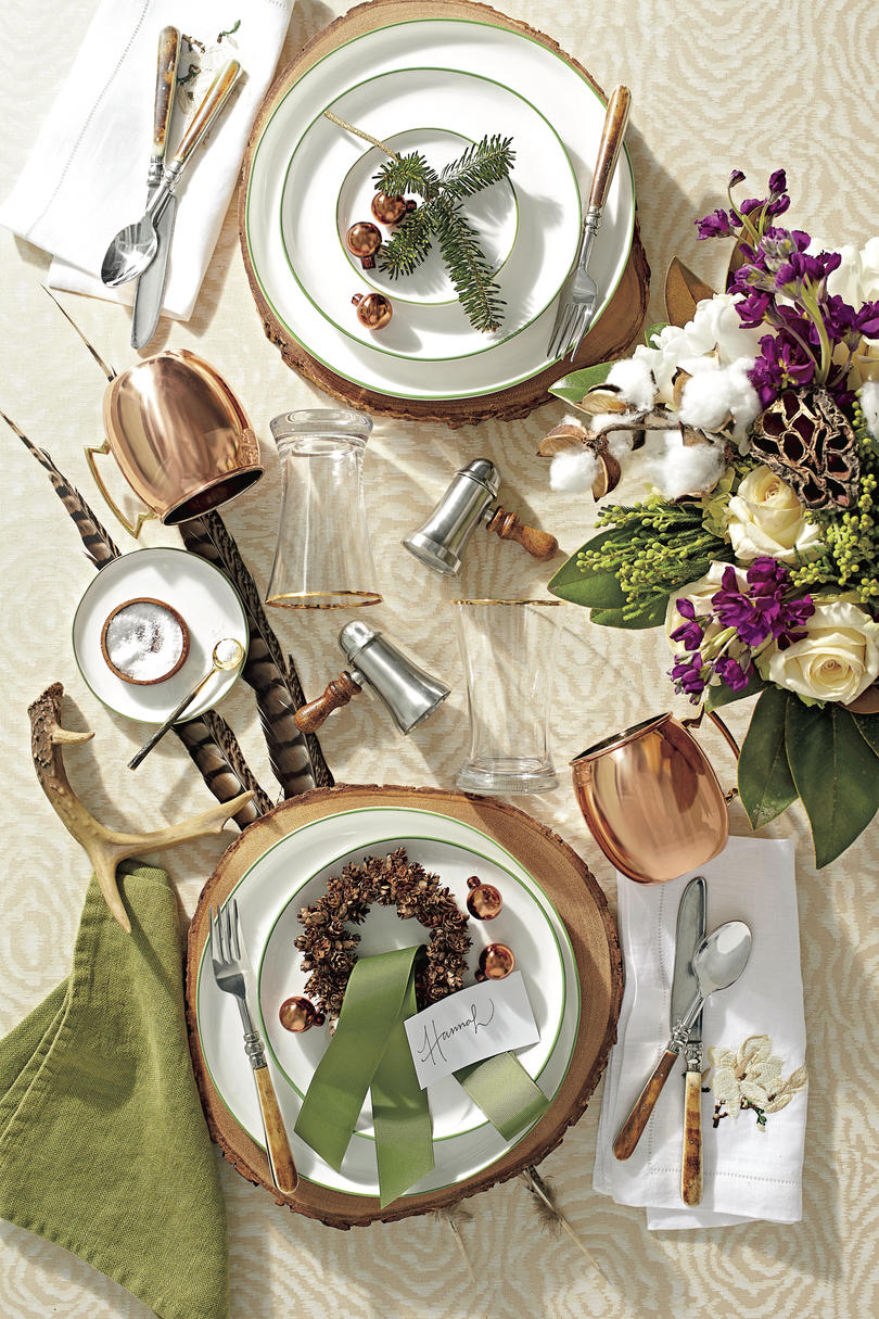 Christmas Table Setting Trendy Table