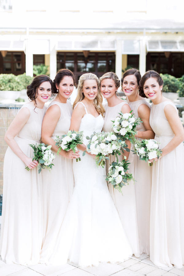 2017 Bridesmaid Dress Trends all white