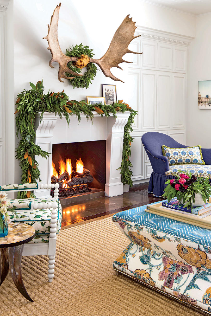 tilton finwick living room mantel for christmas