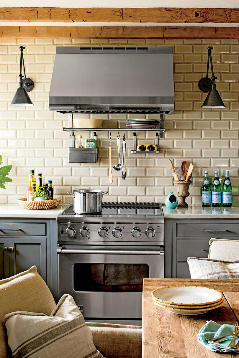 Gray Cabinetry and Subway Tiles