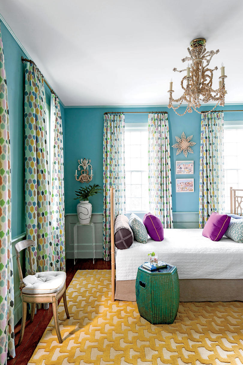 Charleston Colorful Guest Bedroom with Daybed