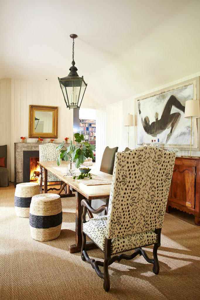 Mismatched Armchairs at Dining Table