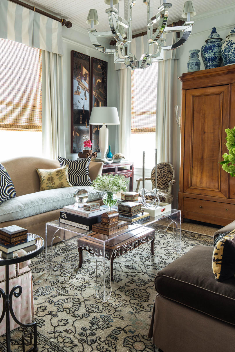Small Living Room Filled with Antiques