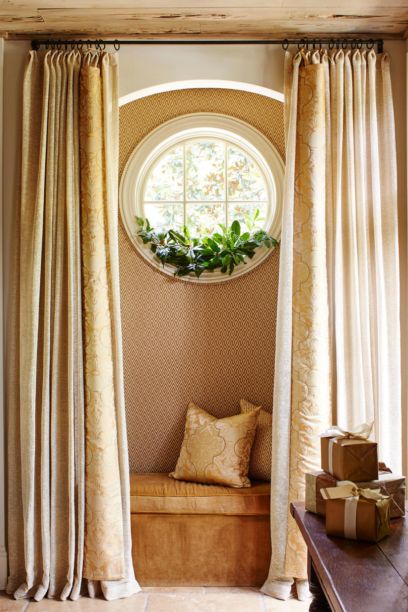 Curtained Hideaway Under Window