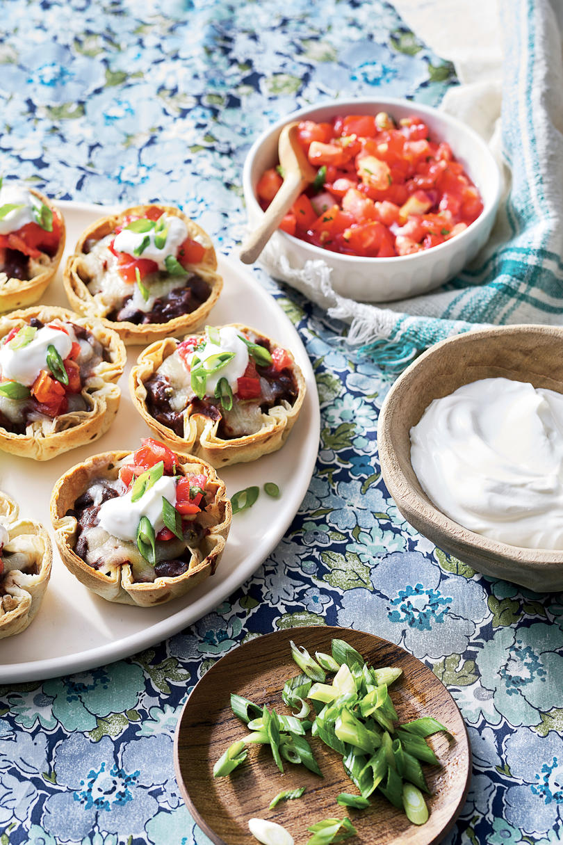 Best party appetizers and recipes southern living appetizer mini black bean and cheese enchiladas forumfinder Gallery
